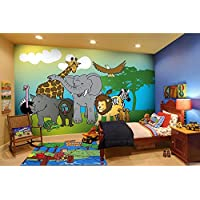 Curious George The Monkey Patterned Area Rug, Playful Animal Fishing Themed, Rectangle Indoor Hallway Doorway Living Area Bedroom Cabin Carpet, Modern Nature Lovers Design, Blue, Green Size 32 x 48