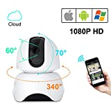 Wireless Network Camera, 1080P Home Wireless Monitoring, Security Surveillance Video Camera System with 2 Way Audio, Motion Detection, Pan Tilt, Night Vision for Baby/Elderly/Pet/Nanny/Office Monitor