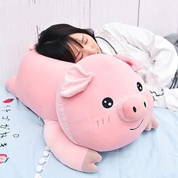 L&J Peluches Cerdo Lindo Juguete De Peluche Suave Almohada para Dormir Decoración Casera-A 60cm