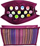 ESSENTIAL OIL BAG | Large Essential Oils Carrying Case | Roller Bottle Travel Case | Storage for Essential Oils Accessories | Cases/Bags/Holder for 15ml, 10ml, 5ml Aromatherapy Bottles (Plum)