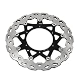 320mm Black Front Floating Brake Disc Rotor For Yamaha YZ250 WR250 YZ250F WRF250 WRF250 WRF426 YZF426 WRF450 YZF450 01-15