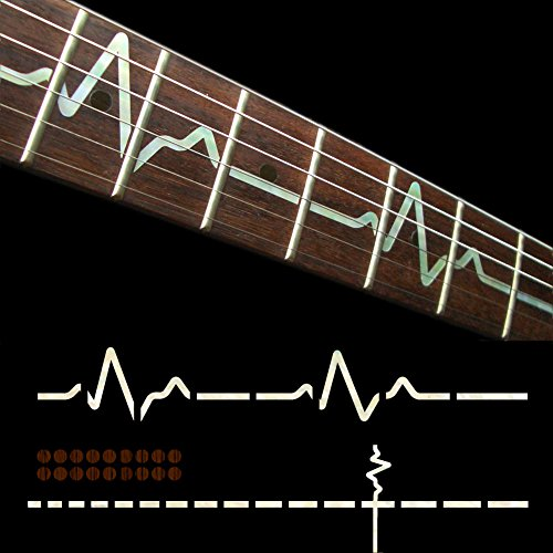 Fretboard Markers Inlay Sticker Decals for Guitar - EKG Line-WP