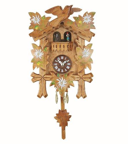 Black Forest Clock, turning dancers, incl. batterie Trenkle