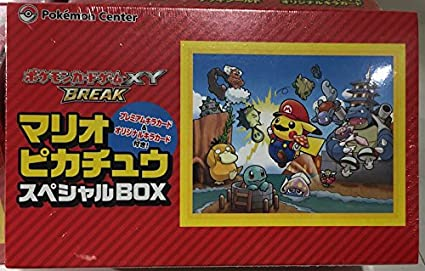 Amazon Com Pokemon Card Game Xy Break Super Mario Bros Pikachu