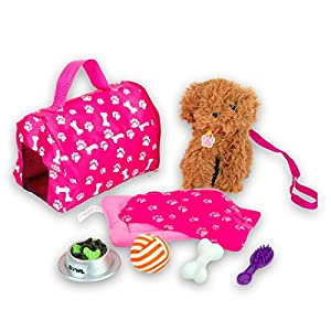"Beverly Hills 18"" Puppy Play Set, with 8 Accessories"
