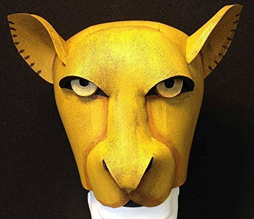 Lioness Nala costume mask hat for Lion King and Lion King Jr. HEAD ONLY, for adults kids, children. Sarabi or Sarafina. Hand made by Tentacle (Handmade Lion Mask)