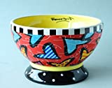 Romero Britto Ceramic Ice Cream Bowl — Hearts Design