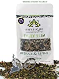Daily Slim by Physique Tea | Natural Slimming and Weight Loss Blend with Appetite Suppressant Garcinia Cambogia and Ayurvedic Herbs | Get Fit and Increase Energy | Free Strainer Inside +15 Day Supply