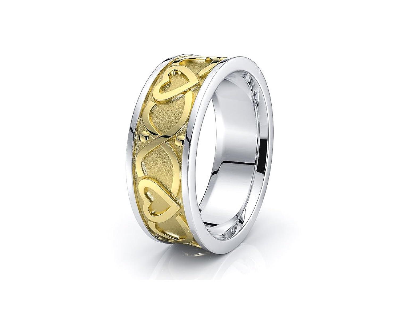 10k White Yellow Gold 7mm Heart Shape Celtic Knot Wedding Band Rings: 20mm Cross Wedding Bands At Websimilar.org