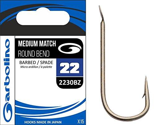 Garbolino HAMECON Medium Match Round Bend 2230BZ - 15, N°18, Bronze N°18