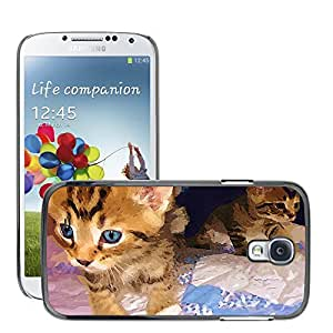 Hot Style Cell Phone PC Hard Case Cover // M00108359 Cat Baby Face Cute Close-Up // Samsung Galaxy S4 S IV SIV i9500