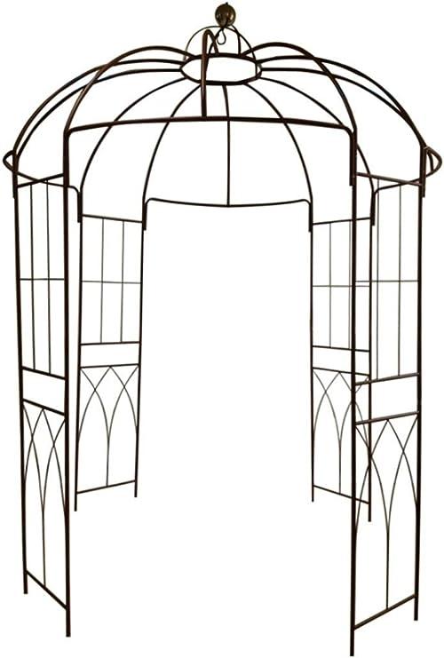 Outour Glorieta de 4 lados en forma de jaula, hecha de hierro ...
