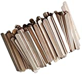 """Durable, Strong & Non-Toxic {4.5"""" x .38"""" Inch} 10,000 Bulk Pack of Mid Size Multi-Purpose Craft Sticks for DIY, Food, Beauty & More, Made of Baltic Birch Wood w/ Classic Style {Beige}"""