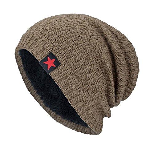 Outerwear Khaki - Hmlai Fashion Hat,Unisex Winter Knit Wool Warm Hat Thick Soft Stretch Slouchy Beanie Skully Cap (Khaki)
