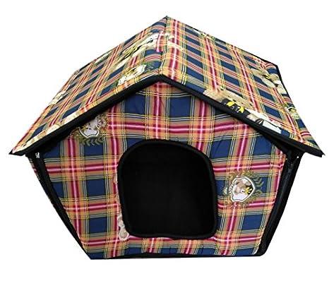 Ducomi® - Dogbnb - Caseta plegable de tela suave para perros y gatos: Amazon.es: Productos para mascotas