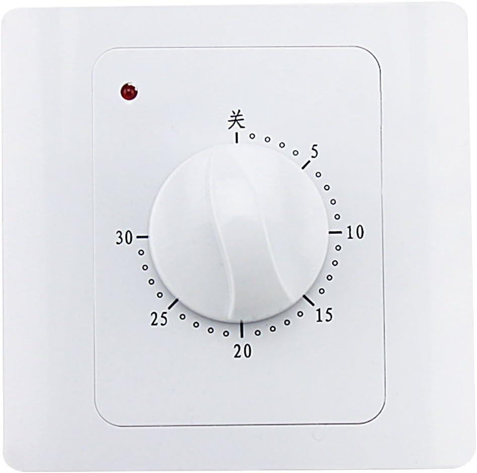 AC 220V 10A 30 Min /À Minuterie Interrupteur Minuterie /Électrique Num/érique Temps Plug Control Interrupteur Minuterie Socket Bouton Style Interrupteur M/écanique