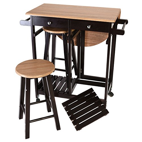 kitchen island table with stools kitchen island rolling cart set dinning drop leaf table 24792