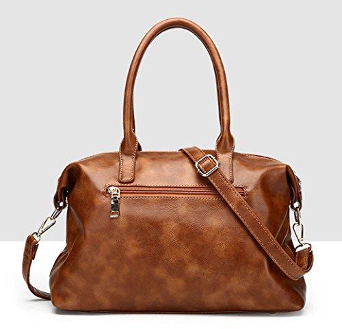 de y Shoppers Carteras Mujer bolsos clutches mano hombro y Barna bandolera Bolsos de FZqWA