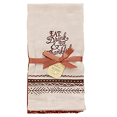 Hallmark Fall  Eat Drink & Be Thankful  Tea Towel