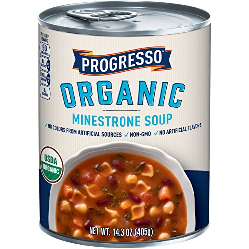 Progresso Organic Soup Can, Minestrone, 14.3 Ounce(Pack of 8)