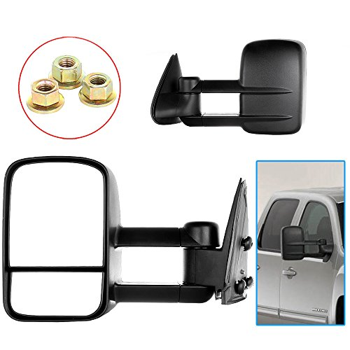 Scitoo 1999-2007 Chevy/GMC Silverado/Sierra Manual Telescoping Towing Mirror Pair (2001 Suburban Towing Mirrors compare prices)