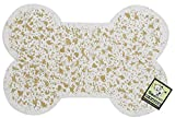 ORE Pet Recycled Rubber Pet Placemat Mini Bone - White
