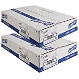 Genuine Joe GJO01535 Heavy Duty Low-Density Puncture Resistant Can Liner, 60 gallon Capacity, 56'' Length x 39'' Width x 1.50 mil Thickness, Black (Box of 50) (2 case)
