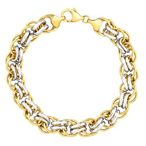 "UPC 729367309013, Double-Link Bracelet in 14K Gold-Bonded Sterling Silver, 7.5"""