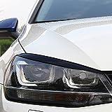 Flash2ning Black Headlights Eyebrow Eyelids Trim fit for VW Golf 7 VII GTI R MK7