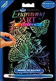 Royal Brush 5 by 7-Inch Rainbow Foil Engraving Art Kit, Mini, Butterflies