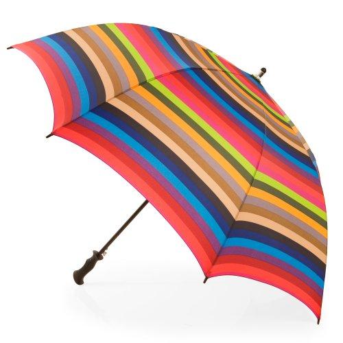 Totes Signature Umbrella Gradated Stripes