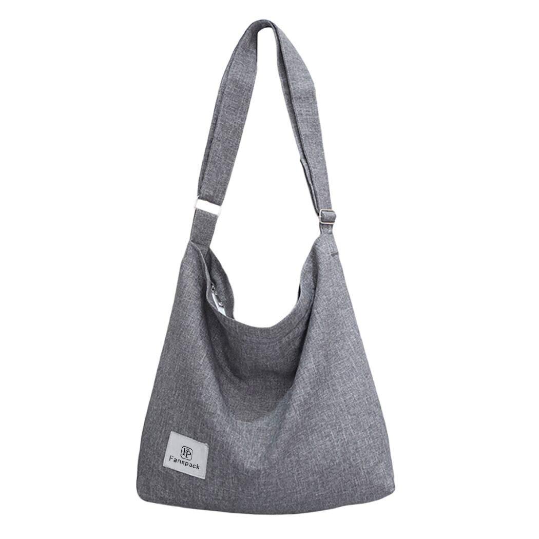 Amazon.com  Fanspack Women s Canvas Hobo Handbags Simple Casual Top Handle  Tote Bag Crossbody Shoulder Bag Shopping Work Bag  Fanspack Direct c281a5bdc714b