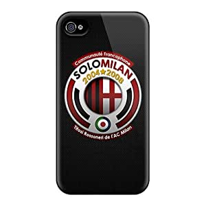 Shock Absorption Hard Cell-phone Case For Iphone 4/4s With Allow Personal Design HD Ac Milan 2 Series PhilHolmes