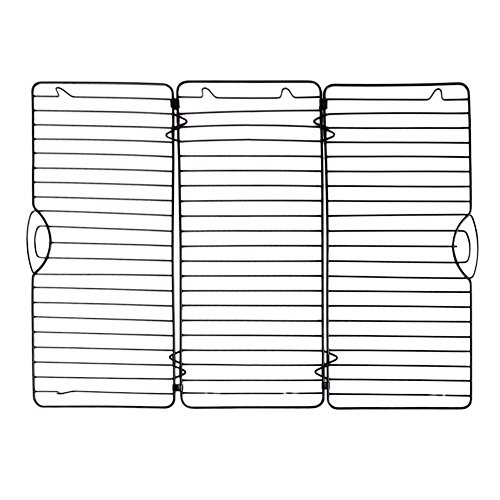 Steel Baking Tray Dish Muffin Cake Biscuit Pan Bakeware Cooling Rack Wire (Gold Chest Waders)