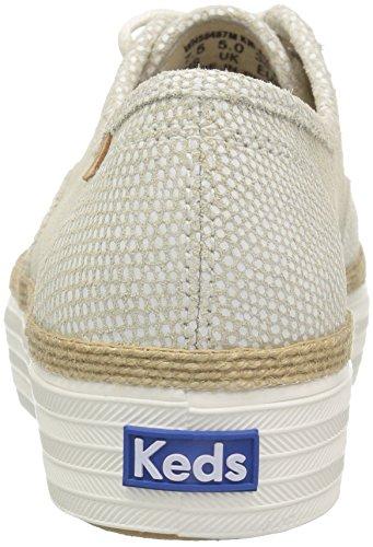 Crema Sneaker Da Donna In Pelle Keds Triple Dalmata Dot
