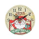 TAOtTAO Silent Sweep Christmas Clock Bell Desk Creative Digital Clock (B)
