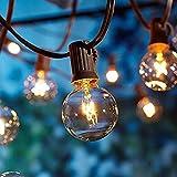 Guirnaldas luminosas de exterior,[Versión actualizada] OxyLED G40 25ft Luces de la secuencia del jardín al aire libre,Decorative String Luces de patio,Garden Terrace Luces de patio de Navidad
