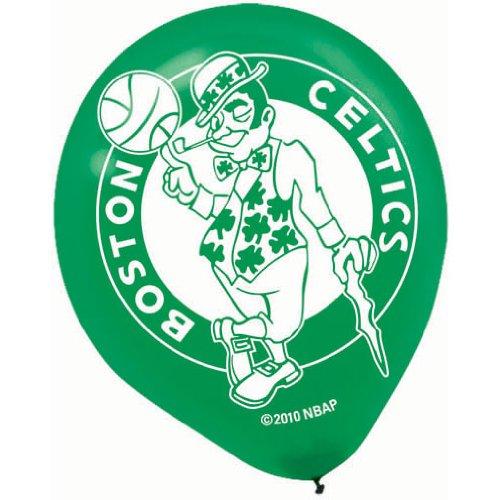 amscan Boston Celtics Latex Balloons - 6 Pkg -