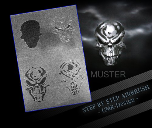 Step by Step Airbrush Stencil AS-051 ~ Stencils ~ UMR-Design