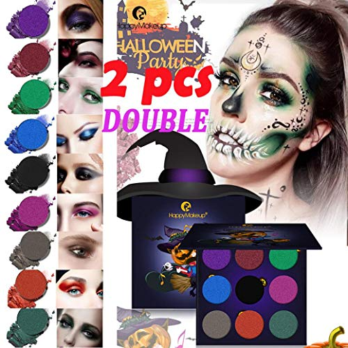 DMZ Halloween Pumpkin Head Eye Shadow Body Painted Plate Scarecrow Ghosts Party