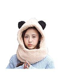 Winter scarf hat without gloves Wrap Bib Warm set