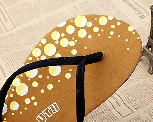 de sandales Vacances Blé Minetom de été Tongs fille Femme Chaussures Accessoires plates plage xvwHOv