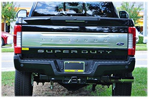 TUFSKINZ | 2017-18 Ford Super Duty Tailgate Inserts (Liquid Chrome)