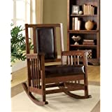 Furniture of America IDF-AC6580 Reginald Mission Style Rocker