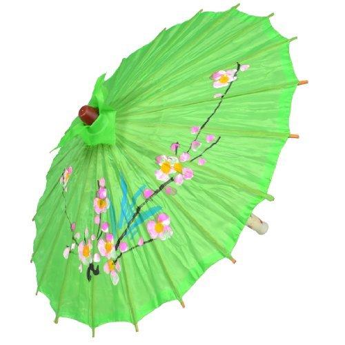eDealMax de soirée de Mariage décoration Bambou Rib Polyester Danse Parapluie Parasol vert