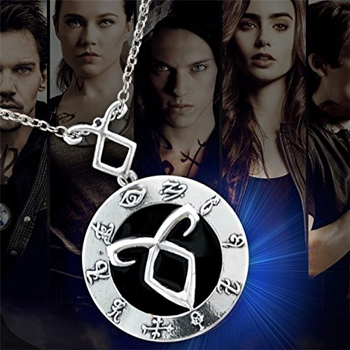 The Mortal Instruments City of Bones necklace vintage Angelic Power Runes Shadowhunters pendant for men and women wholesale (Alloy)