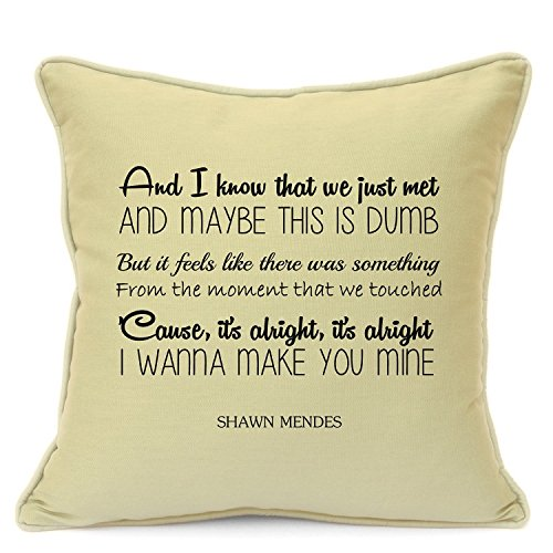 Presents Gifts For Him Her Husband Wife Girlfriend Boyfriend Valentines Day Wedding Anniversary Christmas Xmas Shawn Mendes One Call Away Cushion Cover 18 Inch 45 Cm 1St First Dance Home Decorations