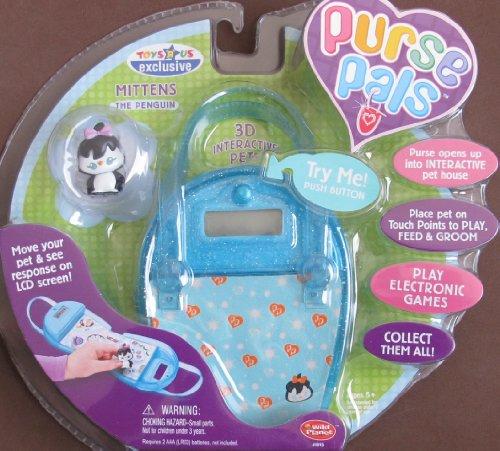 - PURSE PALS w SOUNDS, 3D INTERACTIVE Pet 'MITTENS' the Penguin & PURSE w LCD Screen & INTERACTIVE Pet House (2006)