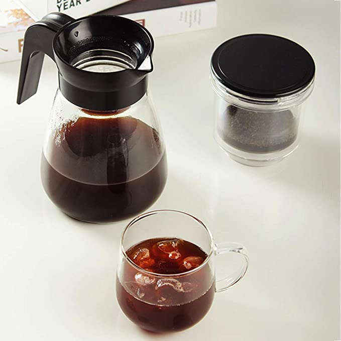 Vidrio francés prensa cafetera, cafetera filtro de goteo taza mano ...