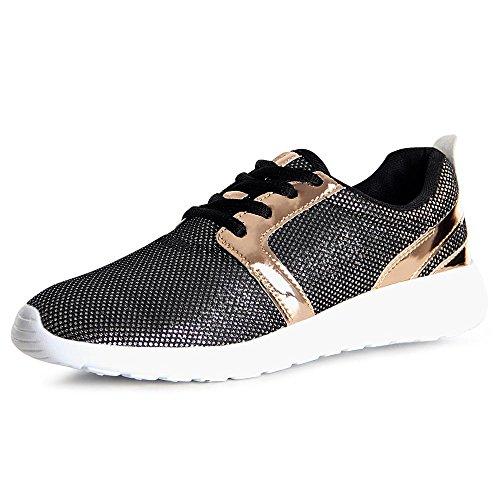 Femmes Chaussures Noir Topschuhe24 Sport De Sneaker WY7CCgw1q